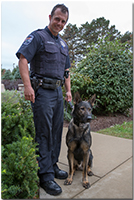 Officer Andrew Franczak and K-9 Becks